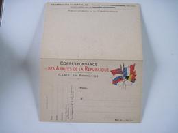 CPA  Correspondance Des Armées De La République Carte En Franchise Vierge TBE - Guerre 1914-18