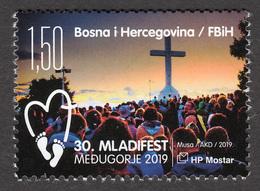 Bosnia Croatia 2019 International Youth Fest Medjugorje Religion Christianity MNH - Bosnia And Herzegovina