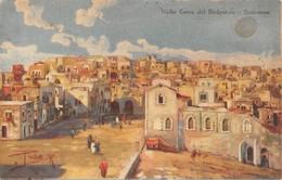 """4897 """"NELLA TERRA DEL REDENTORE-BETLEMME""""ILLUS. PAOLETTI-PUBBLICITA' AMARO FELSINA RAMAZZOTTI-CART. POST.OR.NON SPED. - Palestina"""