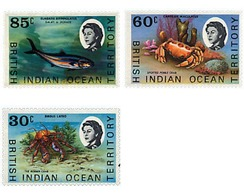 Ref. 72850 * MNH * - BRITISH INDIAN OCEAN TERRITORY. 1970. FISHES AND CRUSTACEA . PECES Y CRUSTACEOS - British Indian Ocean Territory (BIOT)