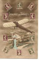 LANGAGE DU TIMBRE Avion Femme Poste Fantaisie - Timbres (représentations)