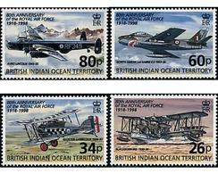 Ref. 60336 * MNH * - BRITISH INDIAN OCEAN TERRITORY. 1998. 80th ANNIVERSARY OF THE ROYAL AIR FORCE . 80 ANIVERSARIO DE L - British Indian Ocean Territory (BIOT)
