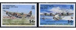 Ref. 370496 * MNH * - BRITISH INDIAN OCEAN TERRITORY. 1993. 75th ANNIVERSARY OF ROYAL AIR FORCE . 75 ANIVERSARIO DE LA R - British Indian Ocean Territory (BIOT)