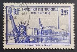 1939-1940, N° 426, The World Exhibition In New York, France, Republique Française, Oblitéré - Oblitérés