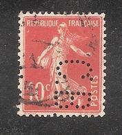 Perforé/perfin/lochung France No 138 C.B. Cie De Béthune - Gezähnt (Perforiert/Gezähnt)