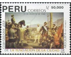 Ref. 30325 * MNH * - PERU. 1990. 450 ANIVERSARIO DE LA FUNDACION DE AREQUIPA. - Caballos