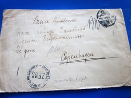 1904 ZENS.CENSURE Marcophilie Lettre/Prisonnier War Croix Rouge FR à CopenhagueDenmark /Hadijog Alapjan Fol Bontatot - 1864-04 (Christian IX)
