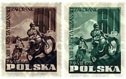 Ref. 44027 * MNH * - POLAND. 1955. 13 CARRERA MOTOCICLISTA INTERNACIONAL EN ZAKOPANE - Neufs