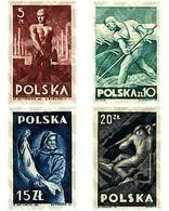Ref. 61532 * MNH * - POLAND. 1947. NATIONAL RECONSTRUCTION . RECONSTRUCCION NACIONAL - 1944-.... République