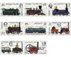 Ref. 60598 * MNH * - POLAND. 1976. HISTORY OF THE LOCOMOTIVE . HISTORIA DE LA LOCOMOTORA - 1944-.... Republic