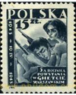 Ref. 165774 * MNH * - POLAND. 1948. 5 ANIVERSARIO DE LA RESISTENCIA A LOS NAZIS DEL GHETTO DE VARSOVIA - Neufs