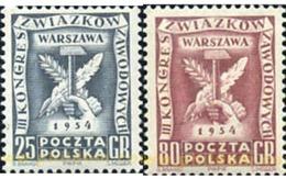 Ref. 166182 * MNH * - POLAND. 1954. 3 CONGRESO DE LOS SINDICATOS OBREROS A VARSOVIA - Neufs