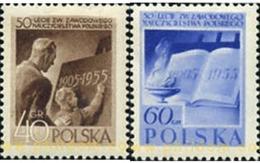 Ref. 166226 * MNH * - POLAND. 1955. 50 AÑOS DEL SINDICATO DE LOS INSTRUCTORES EN POLONIA - Neufs
