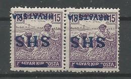 Yugoslavia Kingdom SHS Croatia Mi.71 ERROR Inverted Overprint + Plate Flaw On Hungarian Basic Stamp MNH / ** 1918 - Ungebraucht