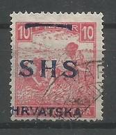 Yugoslavia Kingdom SHS Jugoslawien Croatia Mi.62 Used 1918 Mi.CV: 2.000€ - Usados