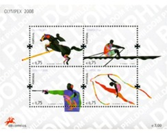 Ref. 214787 * MNH * - PORTUGAL. 2008. OLYMPHILEX 2008. INTERNATIONAL OLYMPIC PHILATELY EXHIBITION . OLYMPHILEX 2008. EXP - 1910-... République