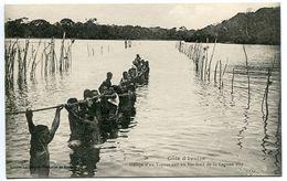 COTE D'IVOIRE Halage D'un Vapeur Sur Un Bas Fond De La Lagune Aby (animée) Ecrite En 1925 - Excellent état - Côte-d'Ivoire