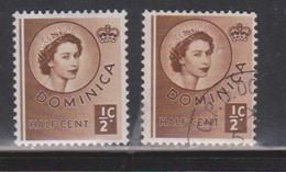 DOMINICA Scott # 142 MH & Used - QEII Definitive - Dominica (...-1978)
