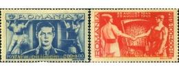 Ref. 166795 * MNH * - ROMANIA. 1945. 1 ANIVERSARIO DE LA LIBERACION A BENEFICIO DEL FRENTE DE LABORES - Ungebraucht