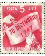 Ref. 167092 * MNH * - ROMANIA. 1948. ANIVERSARIO DE LA REPUBLICA POPULAR - Ohne Zuordnung