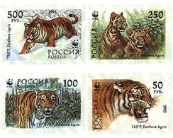 Ref. 75175 * MNH * - RUSSIA. 1993. SIBERIAN TIGER . TIGRE DE SIBERIA - W.W.F.