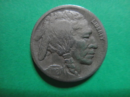 USA  1920-D Buffalo Nickel Fine-15 ROTATED REVERSE 30 DEGREES LEFT! Nice Defintion On Buffalo Including The Horn! - Federal Issues