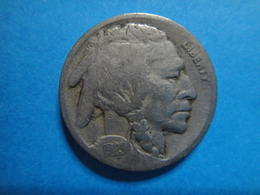 USA  1923-S Buffalo Nickel Very Good-10 Nice Medium Olive Reverse Patina! - Federal Issues