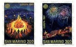Ref. 62469 * MNH * - SAN MARINO. 1981. EUROPA CEPT. FOLKLORE . EUROPA CEPT. FOLKLORE - Ohne Zuordnung