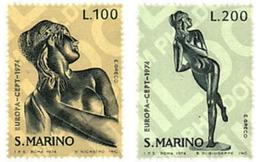 Ref. 62264 * MNH * - SAN MARINO. 1974. EUROPA CEPT. SCULPTURES . EUROPA CEPT. ESCULTURAS - Skulpturen