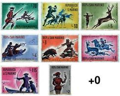 Ref. 70041 * MNH * - SAN MARINO. 1961. HISTORY OF HUNTING, FROM THE XVI TO THE  XVIII CENTURY . HISTORIA DE LA CAZA, DEL - Saint-Marin