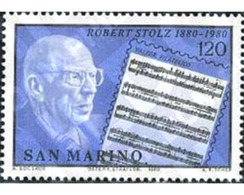 Ref. 141118 * MNH * - SAN MARINO. 1980. 100 ANIVERSARIO DEL NACIMIENTO DE ROBERT STOLZ - Musik