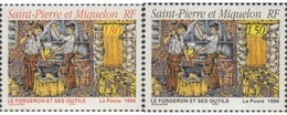 Ref. 161488 * MNH * - ST. PIERRE AND MIQUELON. 1996. LOS FORJADORES Y SUS HERRAMIENTAS - Neufs