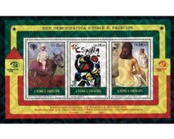 Ref. 42069 * MNH * - SAO TOME AND PRINCIPE Islands. 1984. ESPAÑA 84. INTERNATIONAL PHILATELIC EXHIBITION . ESPAÑA 84. - Postzegels