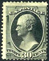 US #154 Mint No Gum 30c Alexander Hamilton  From 1870 - Unused Stamps