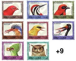 Ref. 362144 * MNH * - SIERRA LEONE. 1992. BIRDS . AVES - Sierra Leone (1961-...)