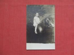 RPPC   Boy On Horse  Studio  Ref 3511 - Postcards