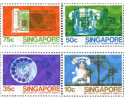 Ref. 362397 * MNH * - SINGAPORE. 1979. CENTENARY OF TELEPHONE . CENTENARIO DEL TELEFONO - Telecom