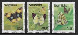 Namibia Scott # 749-51 Used Butterflies, 1993 - Namibia (1990- ...)