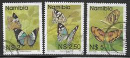 Namibia Scott # 752-4 Used Butterflies, 1993 - Namibia (1990- ...)