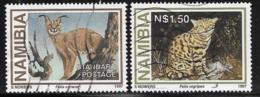 Namibia Scott # 825,828 Used Wild Cats, 1997 - Namibia (1990- ...)