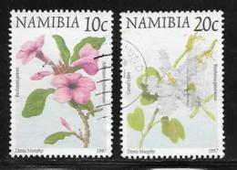 Namibia Scott # 854-5 Used Flowers, 1997 - Namibia (1990- ...)