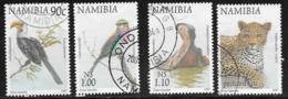 Namibia Scott # 861-4 Used Birds, Animals,1997 - Namibia (1990- ...)
