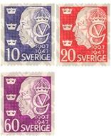 Ref. 107146 * MNH * - SWEDEN. 1947. 40th CENTENARY OF THE ACCESSION OF GUSTAF V . 40 ANIVERSARIO DEL ACCESO AL TRONO DE - Suecia
