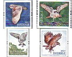 Ref. 225207 * MNH * - SWEDEN. 2009. PREY BIRDS . AVES RAPACES - Sellos