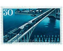 Ref. 602789 * HINGED * - SWITZERLAND. 1947. CENTENARY OF THE RAILWAYS . CENTENARIO DEL FERROCARRIL - Suiza