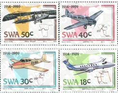 Ref. 363443 * MNH * - SOUTH WEST AFRICA. 1989. CENTENARY OF THE AIR FORCES . CENTENARIO DE LA AVIACION - Zuidwest-Afrika (1923-1990)