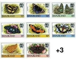 Ref. 95133 * MNH * - SWAZILAND. 1987. BUTTERFLIES . MARIPOSAS - Swaziland (1968-...)