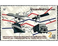 Ref. 42297 * MNH * - THAILAND. 1989. 10 ANIVERSARIO DEL TRANSPORTE ENTRE ASIA Y EL PACIFICO - Tailandia