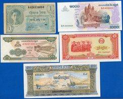 Cambodge   9  Billets - Cambodge