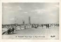 """/ CPSM FRANCE 62 """"Le Touquet Paris Plage, La Digue Promenade"""" - Le Touquet"""